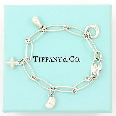 "Tiffany & Co. Silver ELSA PERETTI charm bracelet (estate, 6.5"", 10g) 3613"