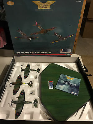 Corgi 70 Years of the Spitfire 3 piece set Johnnie Johnson