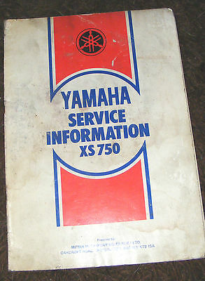 Yamaha  Xs750D  Service Information (Model It5)   1977   (Contents Listed))