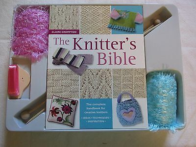 The Knitter's Bible Book & Craft Set Book Needles Yarn Included Techniques Ideas