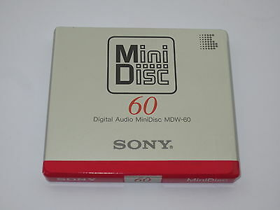 One (1) Minidisc SONY 'first' MDW-60 '1992 (new and sealed)