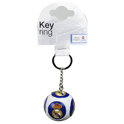 Real Madrid Fc Club Crest Ball Type Keyring Key Ring Keychain New Gift Xmas