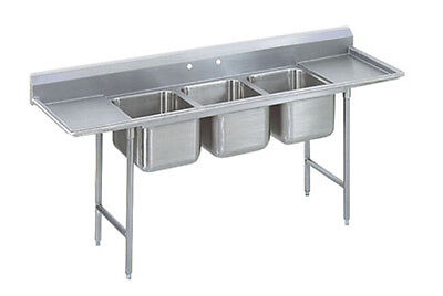 "Advance Tabco Regaline 3-Compartment Stainless Steel Sink-20""x20"" Bowls"
