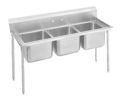 "Advance Tabco 9-23-60 Regaline 3-Compartment Stainless Steel Sink-20""x20"" Bowls"