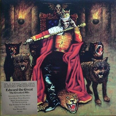 "EX! IRON MAIDEN EDWARD THE GREAT THE GREATEST HITS 2 x 12"" GATEFOLD PICTURE DISC"