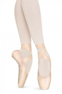 Bloch S0168L Women's 4.5 B Pink Satin Signature Rehearsal Pointe Shoes NEW