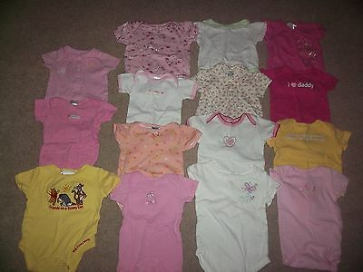 Lot of 15 Girls Clothes Bodysuits Spring Summer 3-6 Months VGC!!!