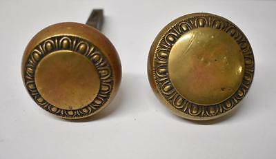 Pair Of Antique Victorian Brass Door Knobs Handles