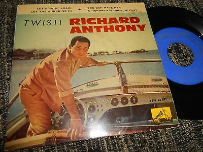 """RICHARD ANTHONY Let's Twist again / You can have..+2 EP 45 7"""" 1961 SPAIN ESPAGNE"""