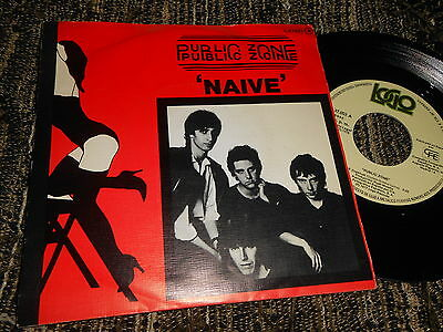 "PUBLIC ZONE Naive/Innocence 7"" 1978 Logo SPAIN SPANISH edition PUNK KBD"
