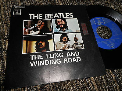 """THE BEATLES The long and winding road/For you blue 7"""" 1970 SPAIN SPANISH"""