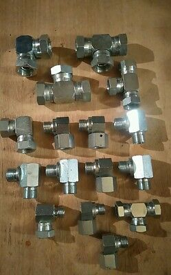 "1/4""  3/8"" 1/2"" Bsp Hydraulic Adaptors Job Lot"