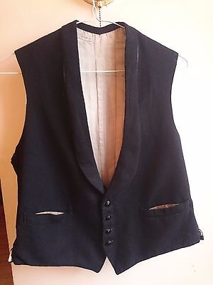 Vintage black waistcoat for a tailcoat or dinner jacket swing dance steampunk