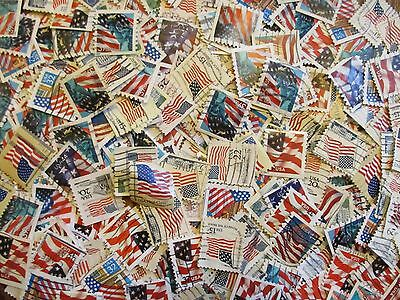 Henry's Stamps - 1000 Used U.s. Small Format Flags - Off Paper - Unchecked -