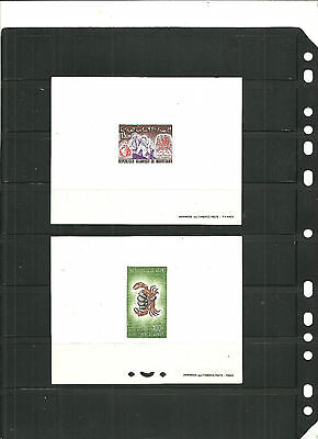 STAMPS,2 proff,Mauritania and Niger,proff in thin white carboards,one with drill