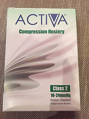 Activa Compression Hosiery Class 2 18-24mmHg Large Below Knee Open Toe Sand