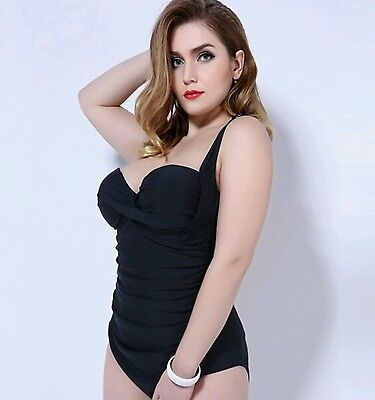Beautiful plus size one piece swimming costume swimsuit