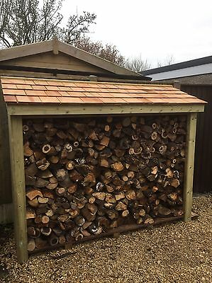 Large Heavy Duty Pressure Treated Wooden Log Store - TOP QUALITY
