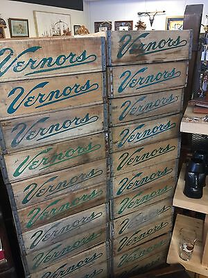 Vernors Wood Crates - FOUR Original Soda Cases Ginger Ale