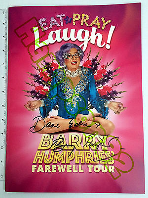 Signed Dame Edna Everage and Barry Humphries *Farewell Tour Programme* RARE