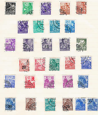 Large selection of stamps from East Germany