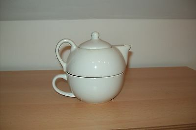 Vintage Small Tea Pot Tea For One Teapot & Cup.