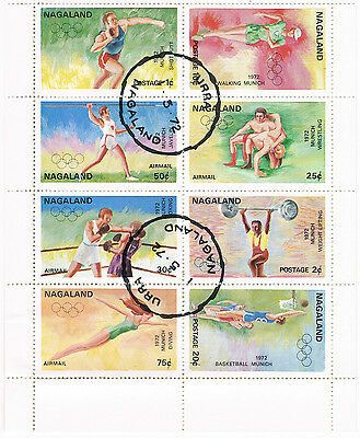 A selection of stamps from Nagaland
