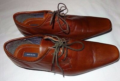 RIVER ISLAND Men's Brown Lace Up Shoes Size UK 7