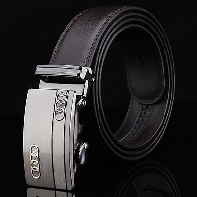 Audi leather belt automatic buckle fashion for men