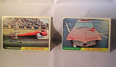 1968 Topps  Hot Rod Cards  #53 The Riviera & #62 The Streamliner Nr-Mt