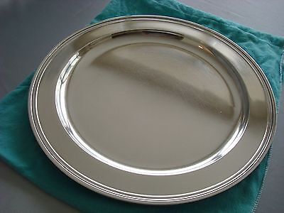 """TIFFANY sterling silver ~ LARGE 13"""" TRAY PLATTER SALVER ~ MODERN MID CENTURY"""