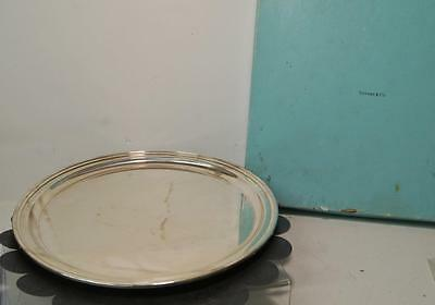 TIFFANY & CO. Sterling Silver Hamilton Round PLATTER/TRAY 21153 - BAG AND BOX