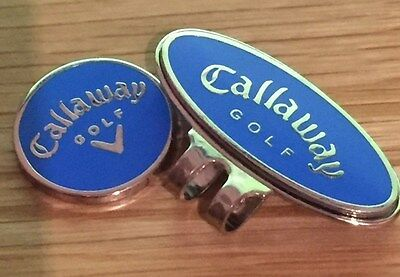 Callaway magnetic golf ball marker with matching clip     (blue)   .6