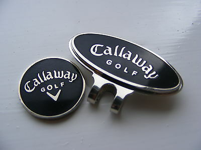 Callaway magnetic golf ball marker with matching clip  (Black)     .9