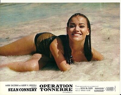 James Bond French Lobby Card - Claudine Auger in Thunderball  1965