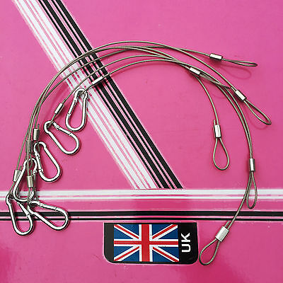 6 x Safety Wires disco lighting stage lights ect
