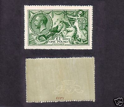 George V £1 Green (FORGERY) sg403
