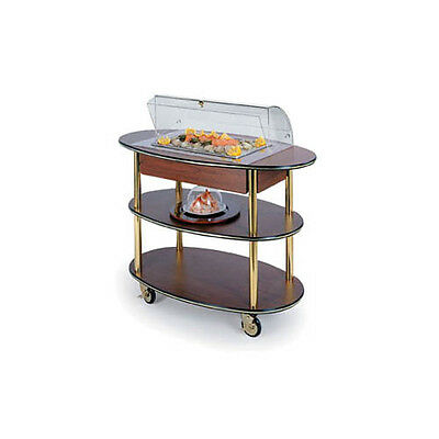 "Lakeside 36306 23""Dx44""Wx44-1/4""H Rounded Oval Dome Display Seafood Cart"