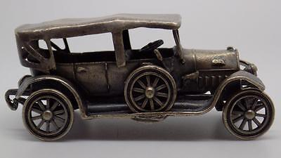 Vintage Solid Silver Beautiful Antique Car Miniature - Stamped - UNO-A-ERRE!!!