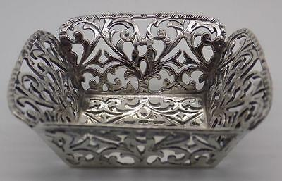 Vintage Solid Silver Beautiful Decorated Candy Bowl - Longo Brand - Stamped
