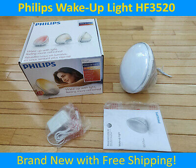 *Philips Wake Up Light HF3520 - LED w/ Radio & Nature Sound Alarm -HF3505 HF3500