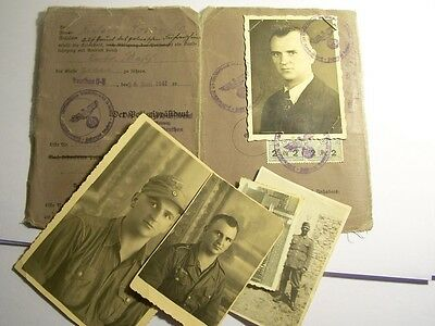 1941 German Driving License and Africa Corps Photograps