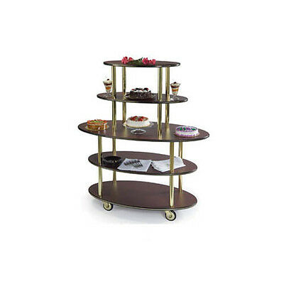 "Lakeside 24""dx50""wx57""h Rounded Oval Dessert Cart - 37212"