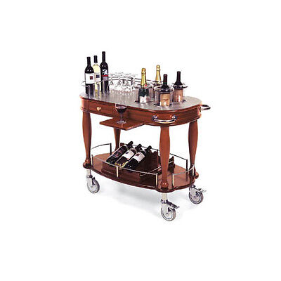 "Lakeside 70038 21-5/8""Dx39-3/8""Wx36-3/4"" Bordeaux Wine Cart"