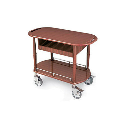 "Lakeside 70458 17-3/4""Dx35-1/2""Wx29""H Gueridon Spice Cart"