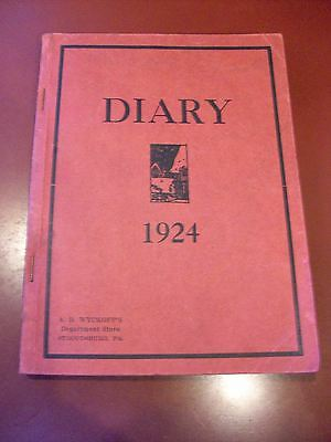 A.B. Wyckoff's Dept. Store, Stroudsburg,PA Diary, 1924