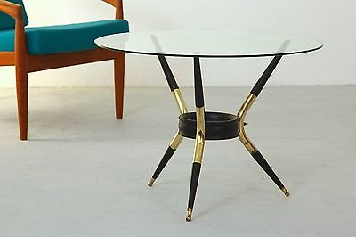 Coffee Table Italy 1950s Brass Glass Tisch Italien um 1950 Messing 50er Ponti