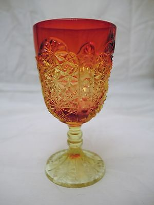 One Vintage Amberina Wine Goblet - L G Wright - Daisy & Button