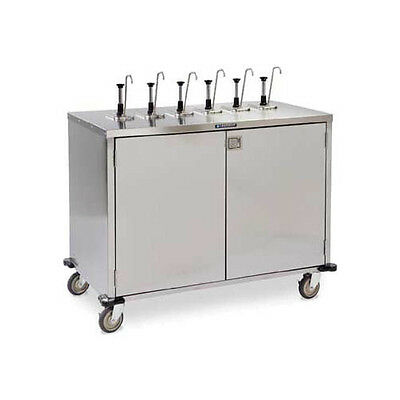 "Lakeside 70211 50-1/4""Wx27-1/2""Dx48-1/2""H EZ SERVE 6 Pump Condiment Cart"