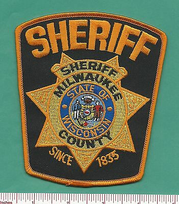 Milwaukee County WI State of Wisconsin Law Enforcement Sheriff Police Patch